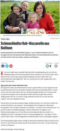 Kuh-Mozzarella aus Roitham - Eiersebner Kuhmilch