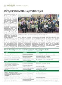 Bericht über die Sieger des Agrarpreis 2016