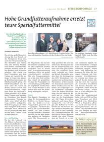 Bericht Hohe Grundfutteraufnahme ersetzt teure Spezialfuttermittel
