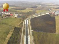 シリクニ川排水路建設工事