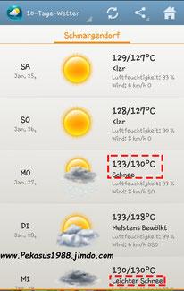 2014-01-25 Heiße Sache, das mit dem Wetter....