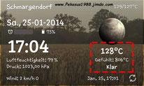 2014-01-25 Heiße Sache, das mit dem Wetter.... 2