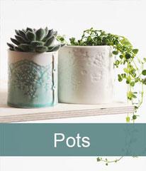 Beautiful delicate porcelain pots
