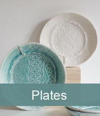 Fine porcelain plates