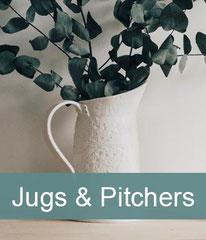 Porcelain jugs and porcelain pitchers