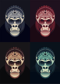 Marion Kamper - Geometric Gorilla