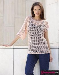 laine Katia collection Silky Lace modèle N°18
