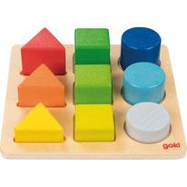 Plateau des formes - Goki - 9 pièces