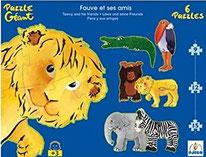 Géant Fauve et ses amis  6 Puzzles 9, 12, 15 pièces