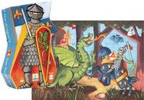 Silhouette le Chevalier et son dragon