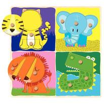 Animaux de la jungle - Goula - 4 x 3 pièces