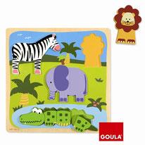 Animaux de la jungle - Goula - 10 pièces