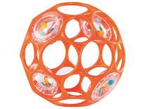 Balle orange alvéolée - O'ball