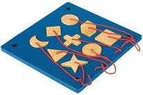 Tableau encastrement des formes - Beleduc - 9 pièces