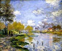 Le printemps à l'Ile de la Jatte (1878) - Claude Monet