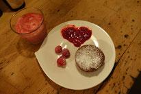 Schokoladensoufflé mit Himbeer- Limettencreme Mädchenvöllerei Pi mal Butter Food Blog Saarland Kochen Rezepte Cooking Cook