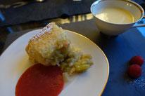 Rhabarberauflauf  Vanille Erdbeeren Mädchenvöllerei Pi mal Butter Food Blog Saarland Kochen Rezepte Cooking Cook