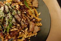 Mädchenvöllerei Pi mal Butter Food Blog Saarland Kochen Rezepte Cooking Cook Pasta mit Radiccio, Cranberrys und Rinderfiletspitzen