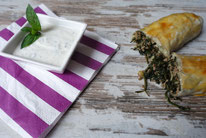 Minihackstrudel mit Minzdip - Mädchenvöllerei Pi mal Butter Food Blog Saarland Kochen Rezepte Cooking Cook