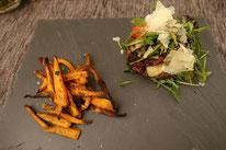 Brotloser Burger mit Süßkartoffelpommes - Mädchenvöllerei Pi mal Butter Food Blog Saarland Kochen Rezepte Cooking Cook