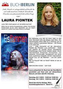 BuchBerlin 2018, Karina-Verlag, Autoren-Stunde Laura Piontek
