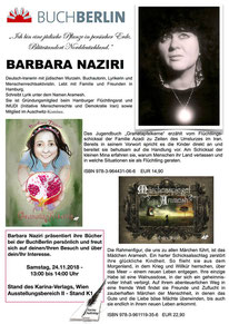 BuchBerlin 2018, Karina-Verlag, Autoren-Stunde Barbara Naziri