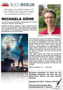 BuchBerlin 2018, Karina-Verlag, Autoren-Stunde Michaela Göhr
