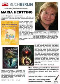BuchBerlin 2018, Karina-Verlag, Autoren-Stunde Maria Hertting