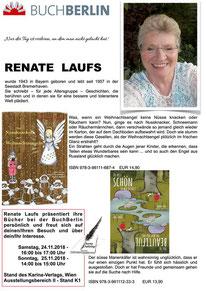 BuchBerlin 2018, Karina-Verlag, Autoren-Stunde Renate Laufs