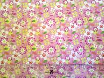 tela floral rosa