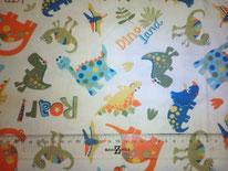 tela de dinosaurios en fondo crema