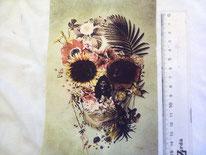 tela calavera floral