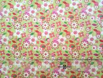 tela floral pistacho