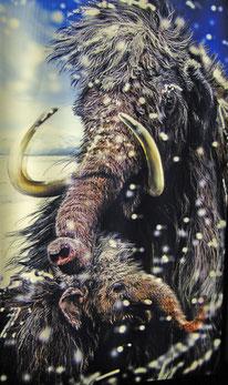 Mammut im Schnee