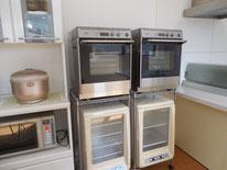 オーブンや発酵機もあります