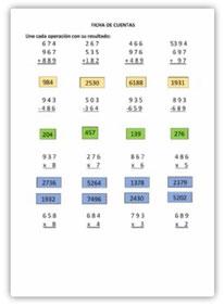 Sumas, Restas y Multiplicaciones por una cifra