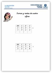 Sumas y Restas de cuatro cifras