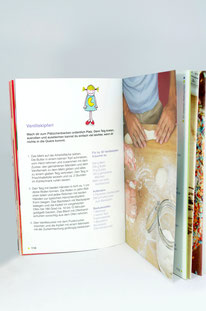"Illustrationen für ""Wir backen"", Mosaik"