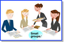 Small groups of 3~5 persons!
