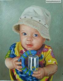 portrait-peinture-bebe