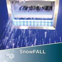 Die Schneedusche der SnowFALL Technologie ist der einfachste Weg sich mit echtem, natürlichem Schnee abzukühlen