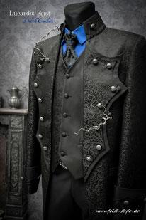 hochzeitsanzug, extravagante hochzeitsanzüge, gehrock, steampunk gehrock, gothic anzug, gothic hochzeit, mode bräutigam