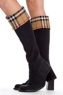 Der klassisch elegante Stiefel-Schal Burberry Style