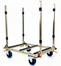 TS 500 Flexi Trolley Glastransportwagen bis 500 kg Tragkraft  transportsolution Transportwagen Transporthelfer Transporthilfe Materialtransport Plattenwagen Plattformwagen