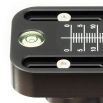 Integrierte Libelle im pocketPANO VARIO Nodalpunktadapters