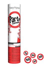 Confetti Kanon € 2,95 verkeersbord 50