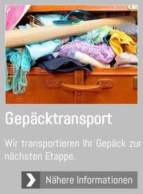 Gepäcktransport Radweg Bikeshuttle