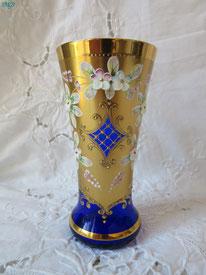 vase murano bleu
