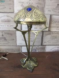 lampe laiton art déco