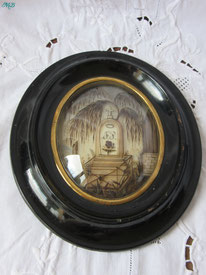 cadre reliquaire cheveux napoléon III